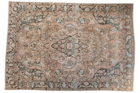 Vintage Distressed Baktiari Carpet / ONH item ee003641