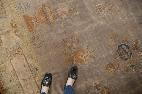 Vintage Distressed Art Deco Carpet / ONH item ee003684 Image 1