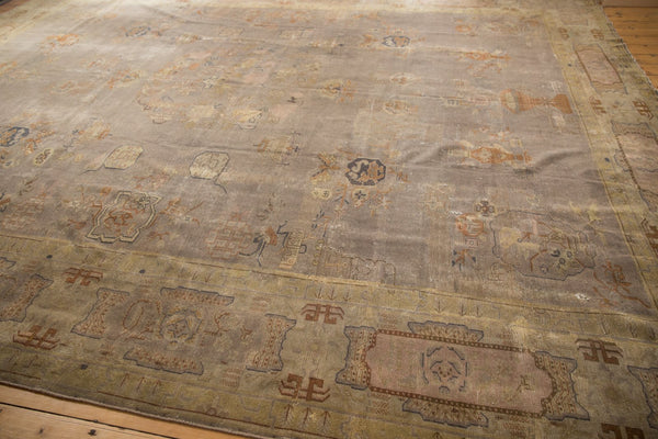 Vintage Distressed Art Deco Carpet / ONH item ee003684 Image 2