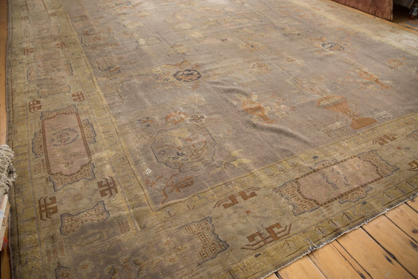 Vintage Distressed Art Deco Carpet / ONH item ee003684 Image 4