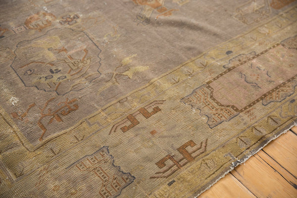 Vintage Distressed Art Deco Carpet / ONH item ee003684 Image 5