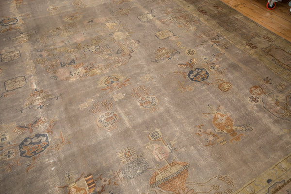 Vintage Distressed Art Deco Carpet / ONH item ee003684 Image 15