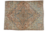 Vintage Distressed Fragment Mehrivan Carpet / ONH item ee003690