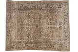 Vintage Distressed Mehrivan Carpet / ONH item ee003692