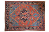 7.5x10 Antique Heriz Carpet // ONH Item ee003720