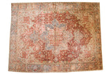 11.5x15.5 Vintage Distressed Heriz Carpet // ONH Item ee003751