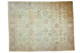 8.5x11.5 Vintage Distressed Tabriz Carpet // ONH Item ee003758