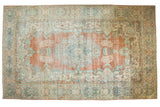 10.5x17.5 Vintage Distressed Mahal Carpet // ONH Item ee003759