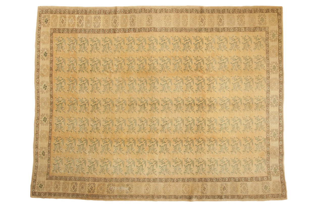 8.5x11 Vintage Distressed Oushak Carpet // ONH Item ee003772