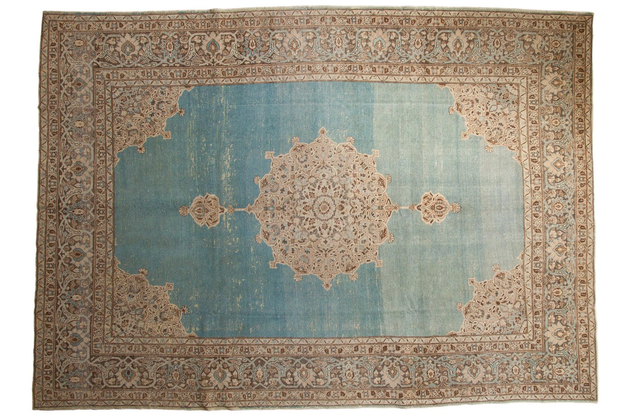 8.5x12.5 Vintage Distressed Tabriz Carpet // ONH Item ee003773