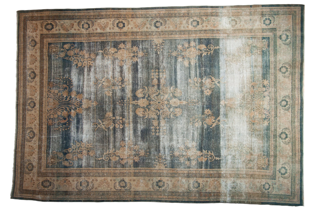 8.5x12 Vintage Distressed Oushak Carpet // ONH Item ee003860