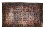 12x19.5 Vintage Distressed Fragment Bibikabad Carpet // ONH Item ee003999