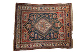 Antique Afshar Carpet / ONH item ee004011