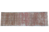 Vintage Distressed Fragment Malayer Rug Runner / ONH item ee004026