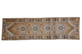 Vintage Distressed Oushak Rug Runner / ONH item ee004029
