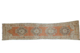Vintage Distressed Oushak Rug Runner / ONH item ee004030