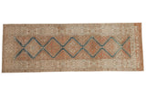 3x9.5 Vintage Distressed Malayer Rug Runner // ONH Item ee004094