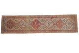 3x13.5 Vintage Distressed Serab Rug Runner // ONH Item ee004095
