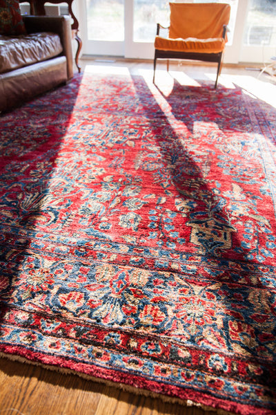8x11 Stunning Vintage American Sarouk Rug - Old New House