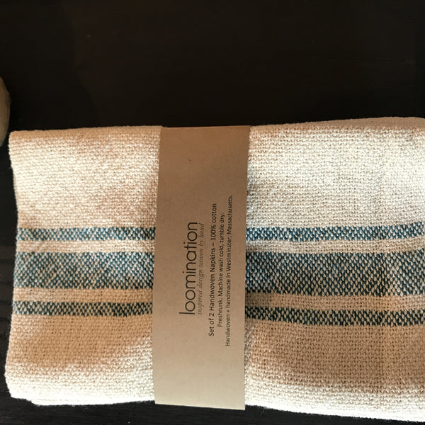 PRELIM loomination set of 2 blue napkins - Old New House