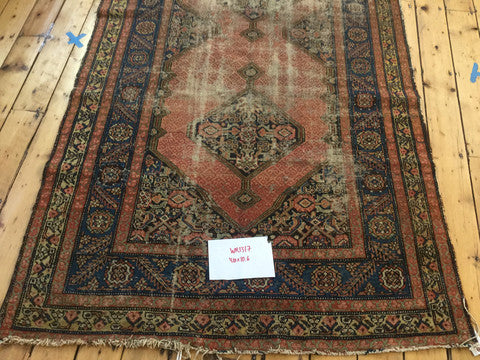 5x11 Antique Distressed Malayer Rug Runner - Old New House