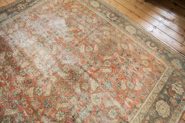 8.5x12 Distressed Mahal Carpet - Old New House