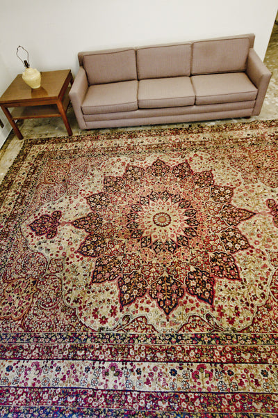 Antique Persian Kerman Room Size