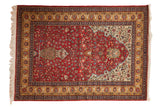 4.5x6.5 Vintage Romanian Hereke Design Rug // ONH Item mc001140