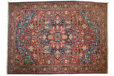 11.5x15.5 Antique Bakshaish Carpet // ONH Item mc001162
