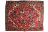 11.5x14.5 Vintage Fine Heriz Carpet // ONH Item mc001203