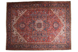11.5x15 Vintage Heriz Carpet // ONH Item mc001211