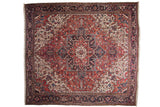 11.5x12.5 Vintage Heriz Square Carpet // ONH Item mc001212