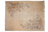 11.5x15 Vintage Japanese Art Deco Design Carpet // ONH Item mc001289