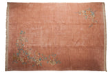 10x14 Vintage Japanese Art Deco Design Carpet // ONH Item mc001319