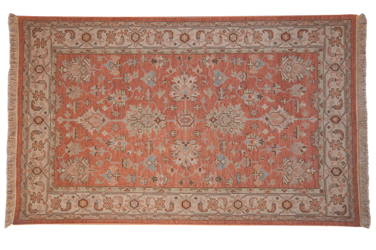 5x8 New Soumac Indian Mahal Design Carpet // ONH Item mc001329
