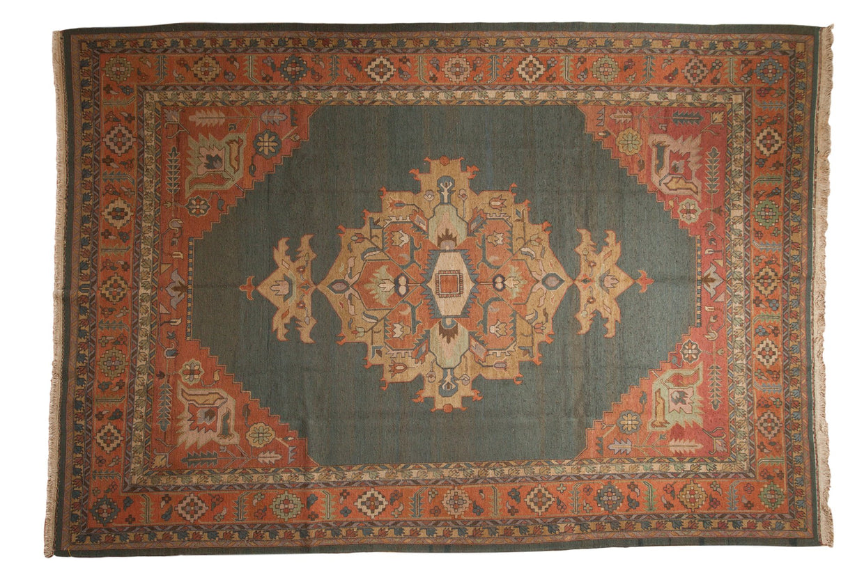9.5x14 Vintage Serapi Indian Soumac Design Carpet // ONH Item mc001342
