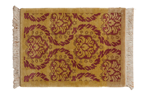 2x3 Vintage Indian Damask Design Rug Mat // ONH Item mc001371