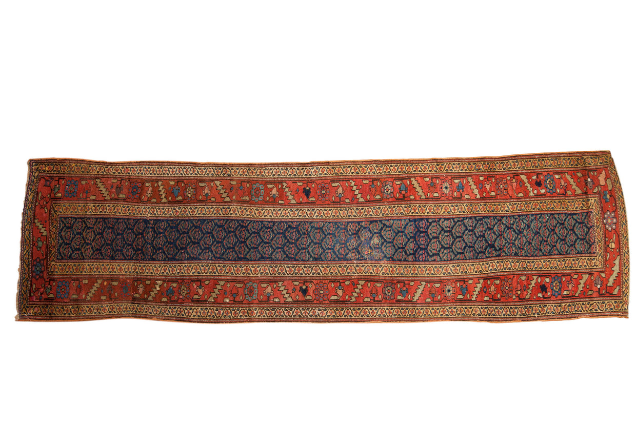 3.5x12.5 Antique Kurdish Rug Runner // ONH Item mc001395