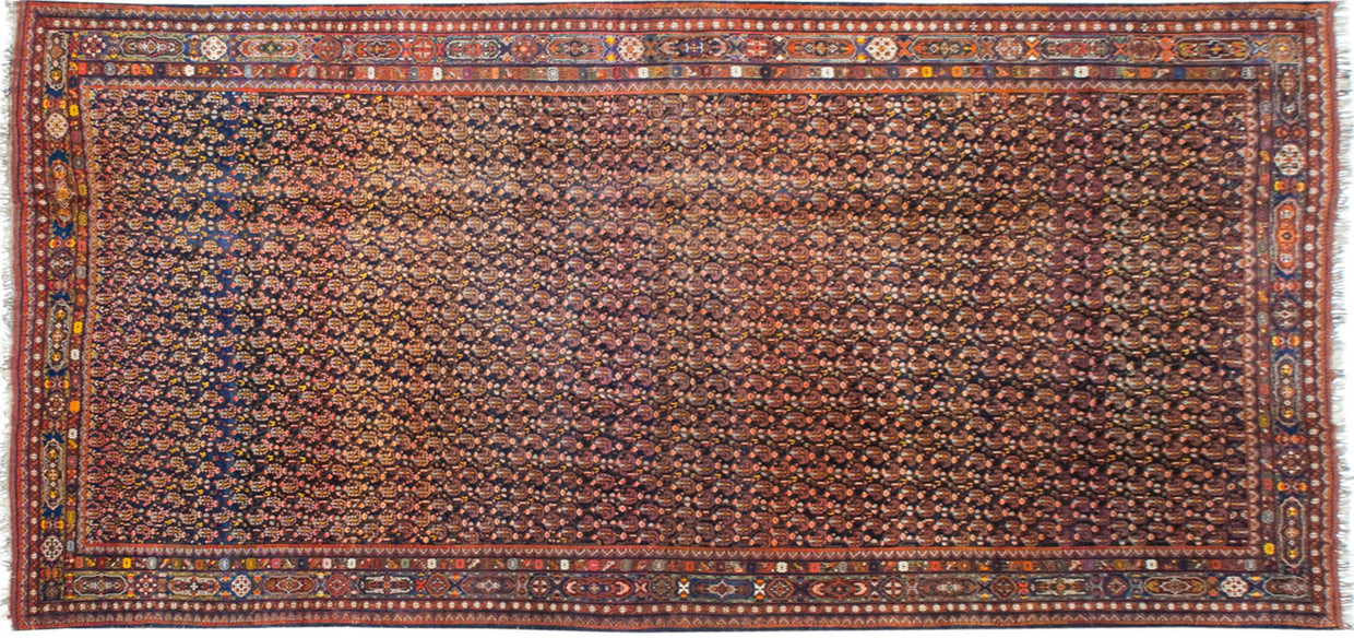 13x28 Antique Afshar Carpet // ONH Item mc001528