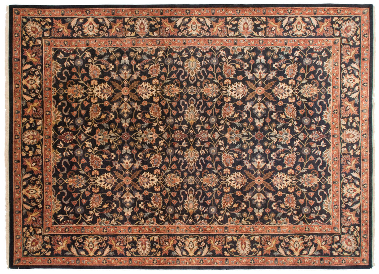 10x14 Vintage Indian Yezd Design Carpet // ONH Item mc001567