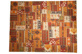 9x11.5 New Patchwork Kilim Carpet // ONH Item mc001742