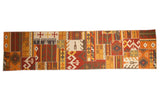 3x11.5 New Patchwork Kilim Rug Runner // ONH Item mc001743