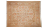9x11.5 Vintage Distressed Indian Soumac Design Carpet // ONH Item mc001747