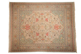 9x11 Vintage Tea Washed Indian Soumac Design Carpet // ONH Item mc001748