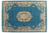 10x14 Vintage Indian Aubusson Design Carpet // ONH Item mc001903