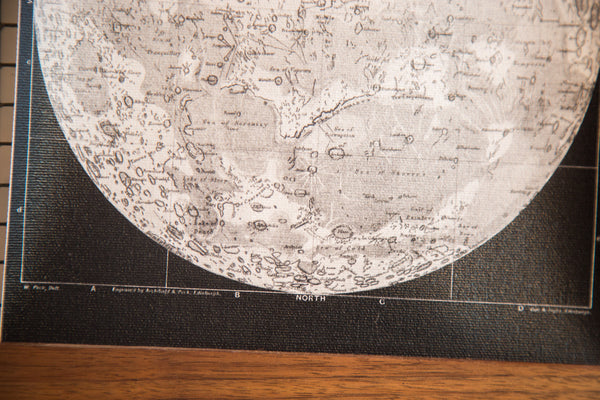 Mini Moon Chart Art Print Canvas Black and White