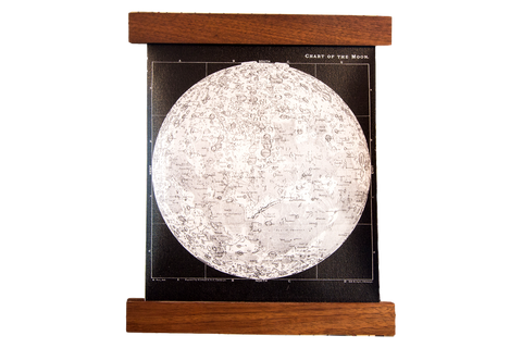 Mini Moon Chart Art Print Canvas Black and White - Old New House