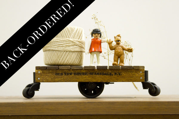 Reclaimed Mahogany Mini Cart Made to Order Limited Edition - Old New House