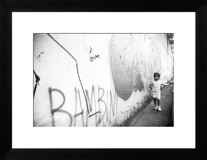 Florence Italy Melissa Dilmaghani Walking Bambini Original Photograph - Old New House