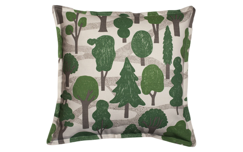 Made in USA Woodland Pillow in Green and Grey - Old New House